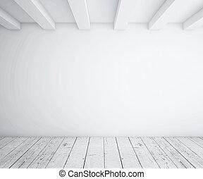 legno, soffitta, pavimento