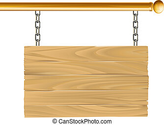 legno, sospeso, illustrazione, segno