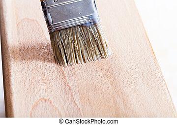 legno, spiaggia, vernice, mettere, asse
