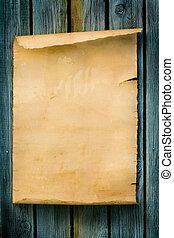 legno, stile, vecchio, segno, carta, occidentale, arte