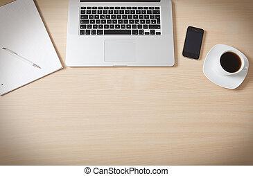 legno, superficie, scrivania