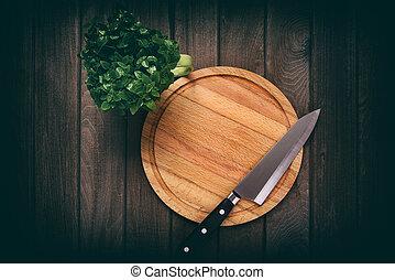 legno, taglio, tavola., asse