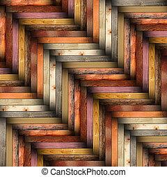 legno, tegole, colorito, pavimento
