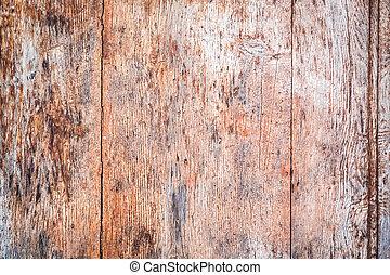 legno, unghia, incrinature, vecchio, fondo