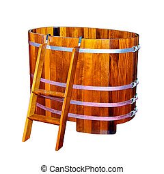 legno, vasca bagno