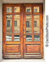 legno, vecchio, porta