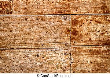 legno, vecchio, unghia, porta