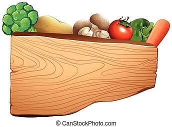 legno, vegetali mescolati, segno