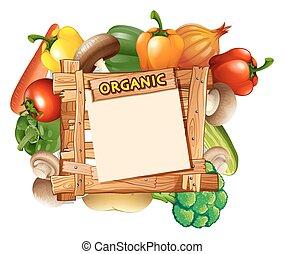 legno, verdura, intorno, segno