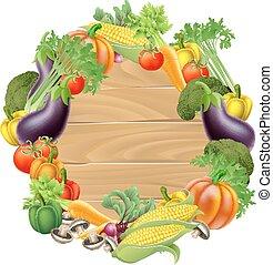 legno, verdura, segno
