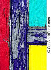legno, vernice, grunge, porta