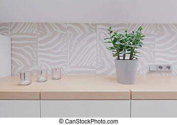 legno, worktop, moderno, backsplash