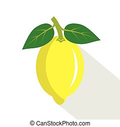 lemon., succoso, frutta, maturo