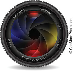 lente macchina fotografica, otturatore