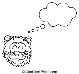 leone, coloritura, sognare