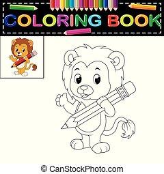 leone, libro colorante