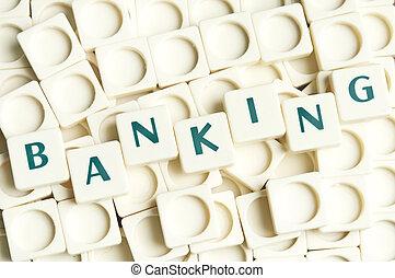 leter, bancario, fatto, parola, pezzi