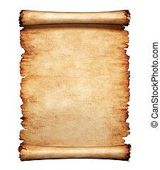 lettera, carta, vecchio, pergamena, fondo