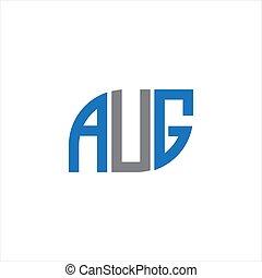 lettera, creativo, design., disegno, concept.aug, background.aug, bianco, logotipo, iniziali, aug