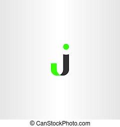 lettera, simbolo, vettore, logotipo, j