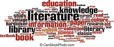 letteratura, parola, nuvola