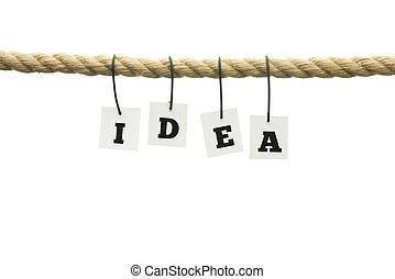 lettere, -, idea, corda, appendere, ortografia