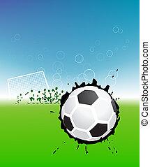 lettori, palla calcio, campo, football