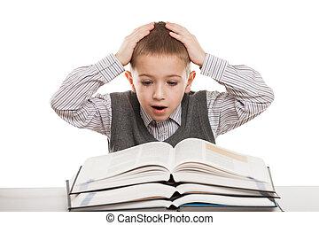 lettura, libri, bambino
