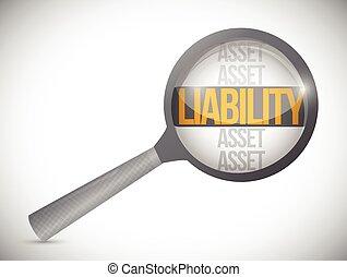 liabilities, revisione, illustrazione, sotto