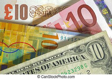 libbra, inghilterra, franco, stati uniti, valuta, dollaro, euro, europa, svizzero