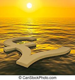 libbra, ricchezza, soldi, esposizione, tramonto, guadagni, galleggiante, o