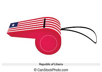 liberia, repubblica, fischio