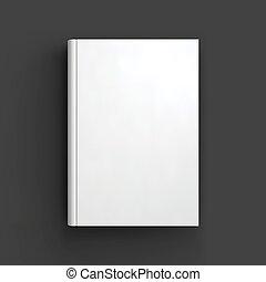 libretto, mockup., libro bianco, quaderno, manuale, o