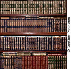 libri, coperchio, oro, biblioteca