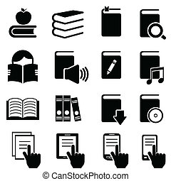 libri, letteratura, lettura, icone