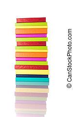 libri, pila, colorito