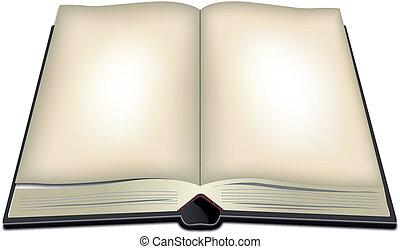 libro, aperto, illustrazione