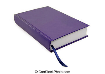 libro blu, isolato