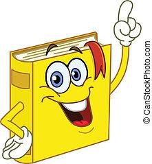libro, cartone animato