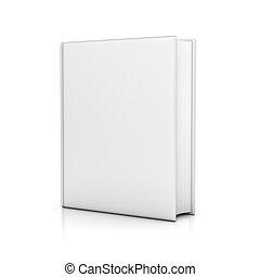 libro, coperchi, vuoto, bianco