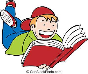 libro lettura bambino, capretto