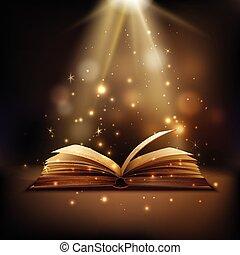 libro, magia, fondo