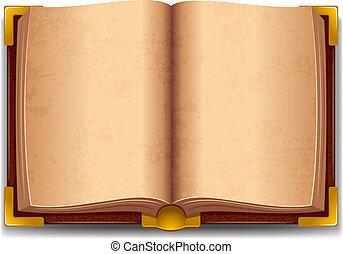 libro, vecchio, aperto