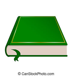 libro, vettore, verde