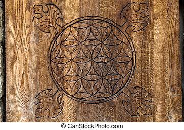 life., fiore, legno