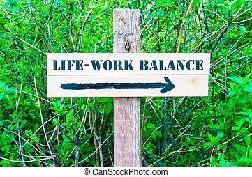 life-work, equilibrio, segno direzionale