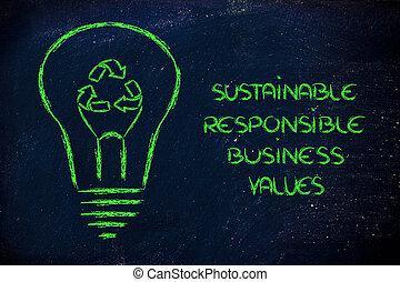 lightbulb, riciclare simbolo, filamento, instead
