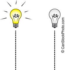 lightbulb, spento, cordicella