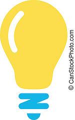 lightbulb, vettore, icona