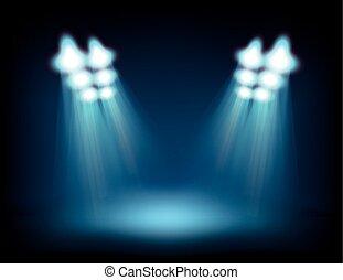 lights., macchia, contenuto, luminoso, sagoma, palcoscenico
